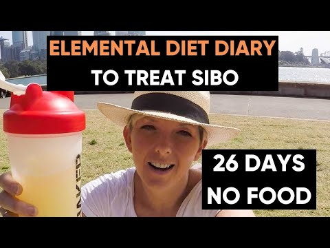 26 Days on The Elemental Diet to treat SIBO video diary: before, during and after