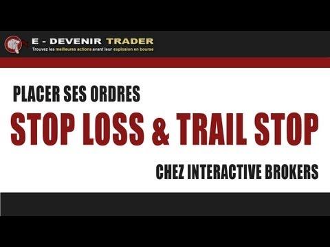Comment placer un Stop Loss et un Trail Stop chez Interactive Brokers