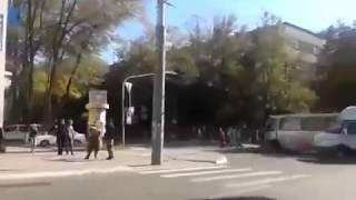 В Мариуполе перевернулась машина Украинских военных. АТО Мариуполь сегодня