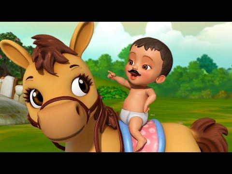 Mera Ghoda Tik Tik Tik | Hindi Rhymes for Children | Infobells
