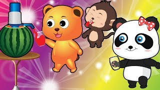 Gummy Bear and Animals make watermelon juice | Nursery Rhymes & Cartoons For Kids