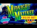 Midnight Matinee Slot - BIG WIN Bonus - $12.50 Max Bet!