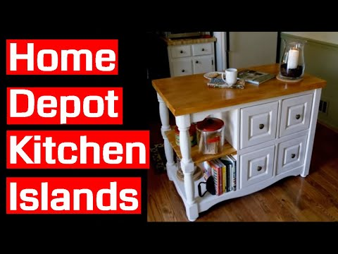Home Depot Kitchen Islands Youtube