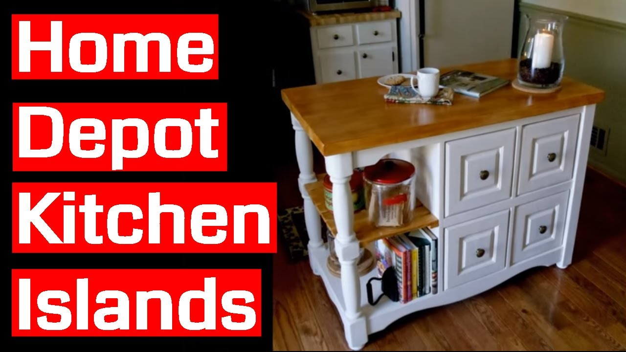 Home Depot Kitchen Islands - YouTube