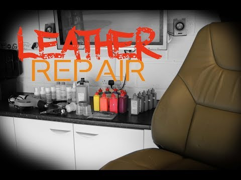 How to repair worn split scratched damaged leather - Leather refinishing guide