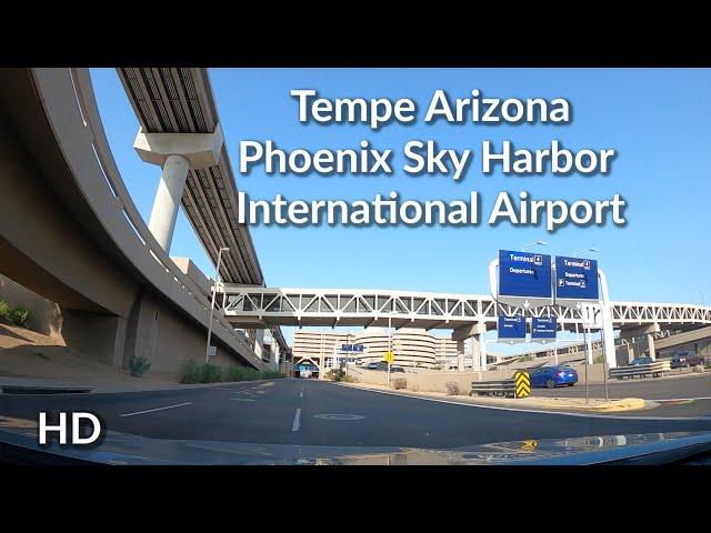 Tempe to Sky Harbor Airport Arizona- Scenic Real Time Drive