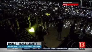 Phone app lights Purdue pregame