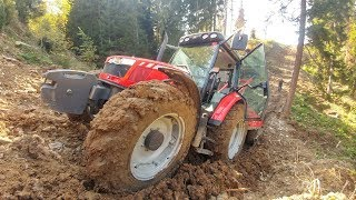 We could not get back from where we came down to install the log! | Massey Ferguson 5440 [GoPro]