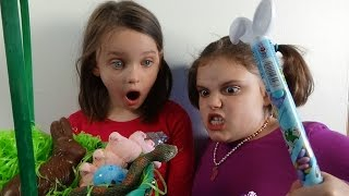 "Snake In Easter Basket Attacks Spatula Girl ""Toy Freaks Victoria Annabelle"""