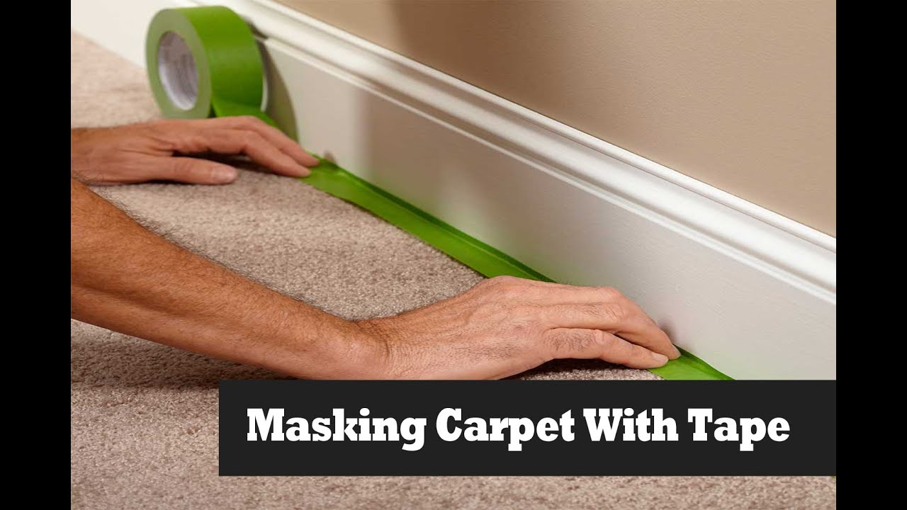 Masking Carpet On Stairs Before Painting Walls. Masking ...