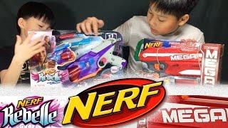 รีวิว Nerf Mega Darts กระสุนใหญ่ แรงสุด VS. Nerf Rebelle Spylight ส่งข้อความผ่านลูกกระสุนได้