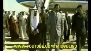 الشيخ جابر يستقبله الشهيد صدام حسين بغداد
