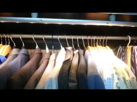 removing norrfly ikea wardrobe lights