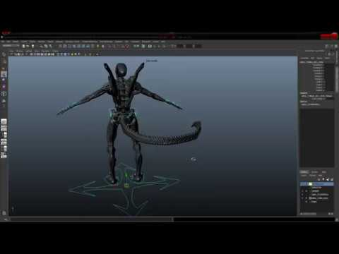 ALIEN 3D MODELING - FINAL RIG (View on HD quality