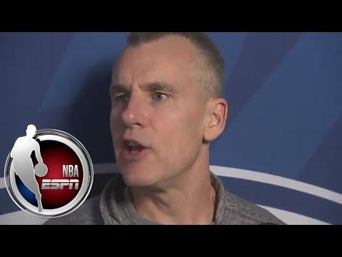 Thunder head coach Billy Donovan doesn