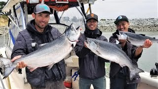 13 Miles Out on INFLATABLE Boat Salmon Fishing Fail