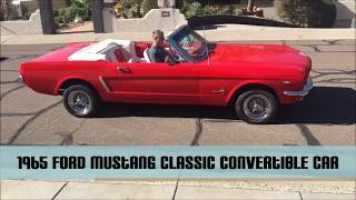 1965 Ford Mustang Classic Convertible Car