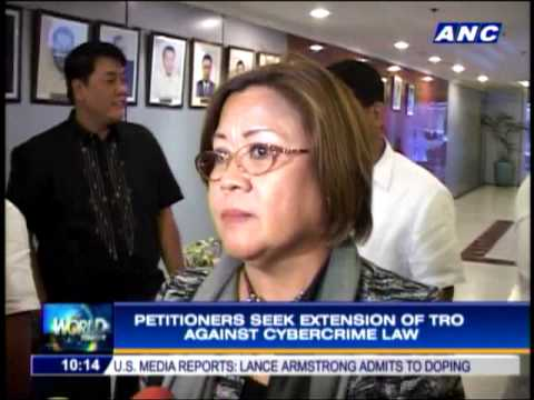 Petitioners vs cybercrime law seek extension of TRO