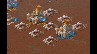 Lords Mobile - Тесты на лагерях. Убийца демонов VS Хранитель клятвы. Проверка подушки из 4ех солдат