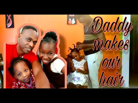 NATURAL HAIR DAY! Daddy Makes Our Hair