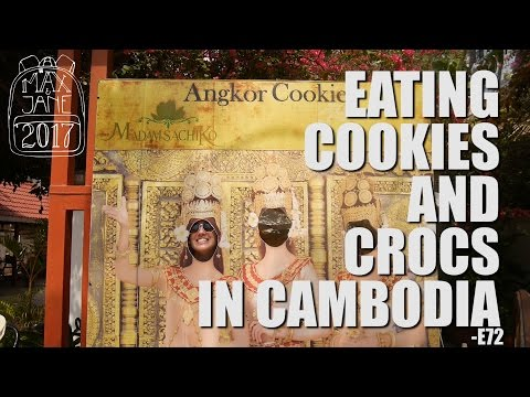 Siem Reap, Cambodia | He ate a crocodile!! | South East Asia Travel Vlog E72