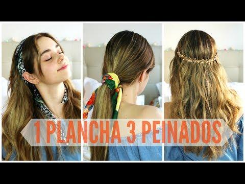 1 plancha 3 PEINADOS DIFERENTES!