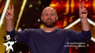 Magician Jon Dorenbos is BACK on America's Got Talent: The Champions | Got Talent Global