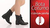 b7359b7519 Bota Coturno Cravo   Canela 131114 - Preto - 6010355612 - YouTube