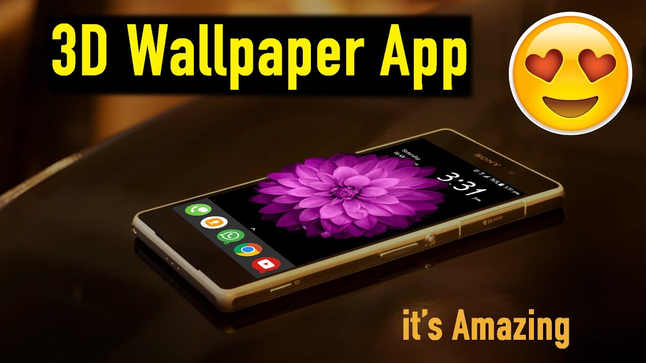 amazing 3d wallpapers app for android youtube. Black Bedroom Furniture Sets. Home Design Ideas