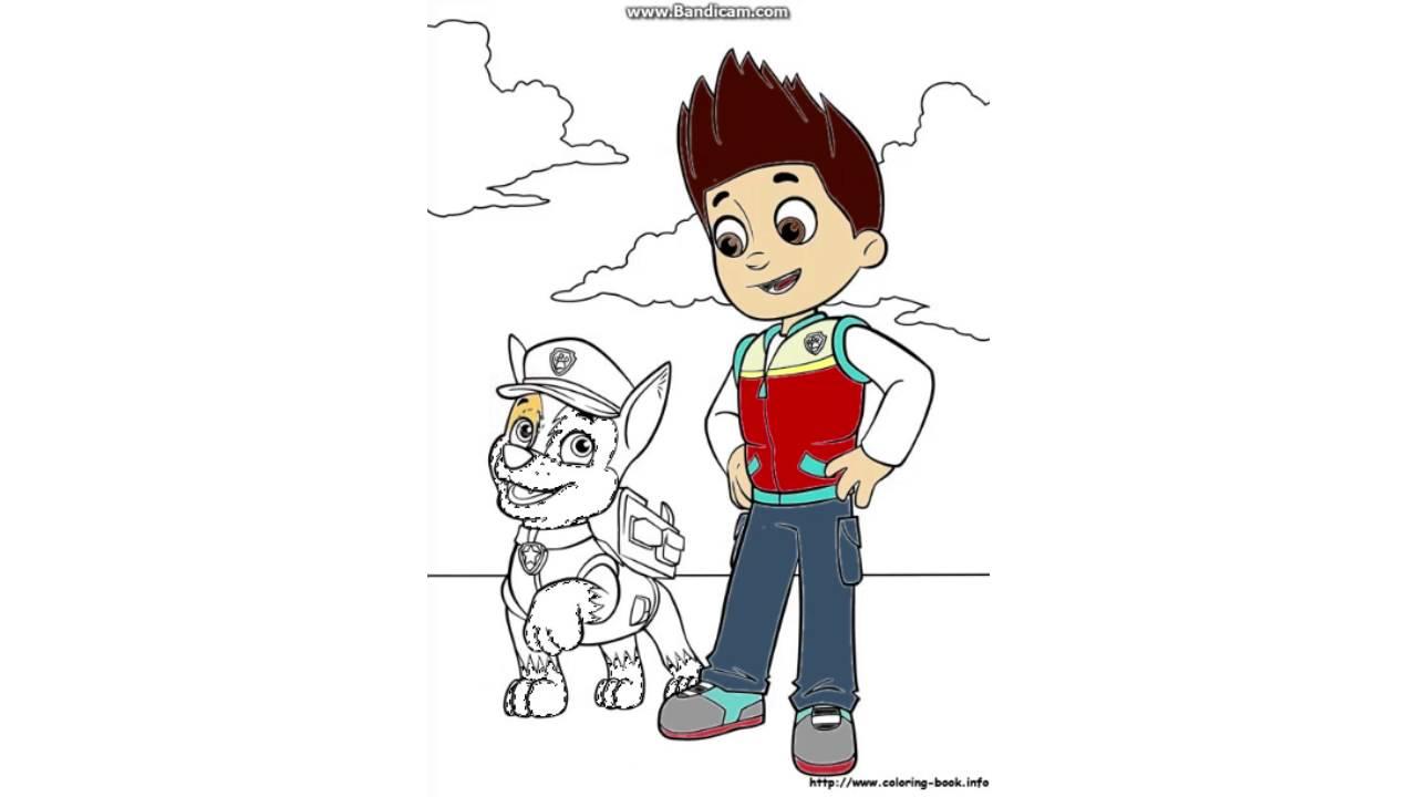 Dibujos Patrulla Canina En Color: Ryder Y Chase Patrulla Canina Página De Colorear Coloring