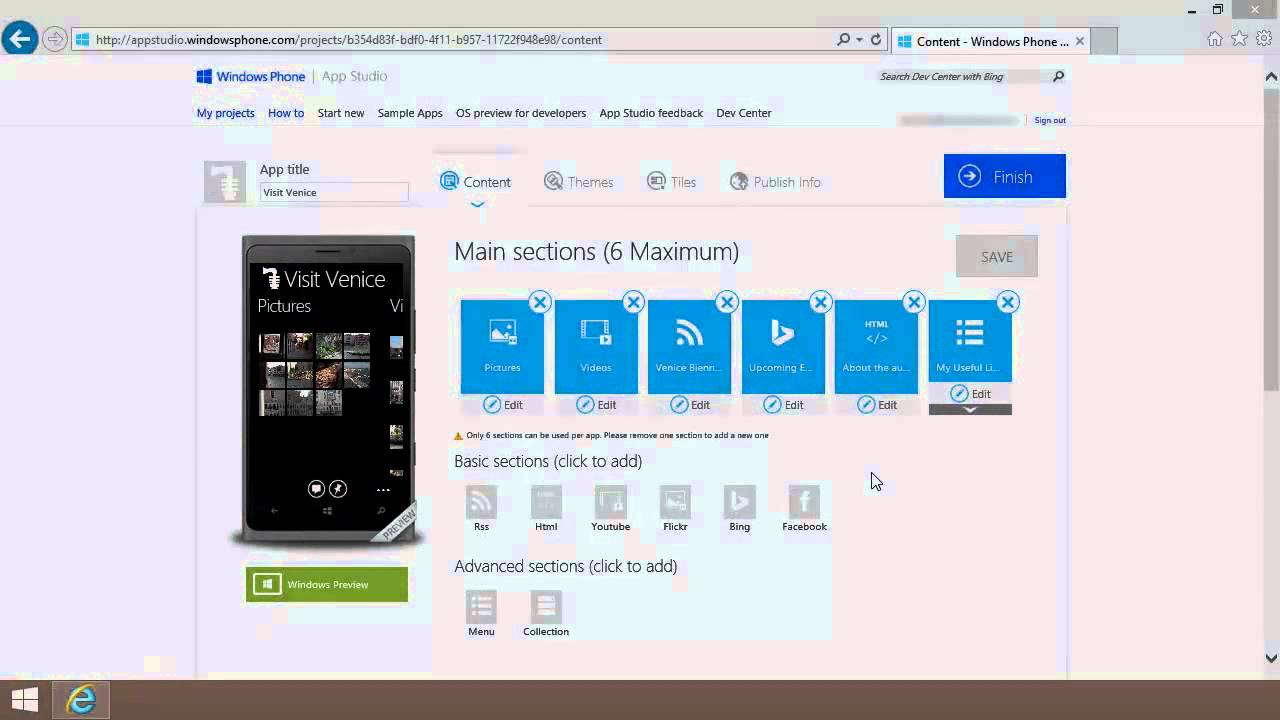 How To Create Free Apps With Windows App Studio Youtube