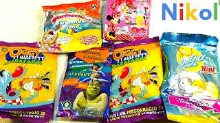 Николь открывает пакетики с сюрпризами Мини маус !