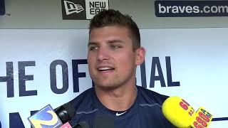 Braves prospect Austin Riley arrives for MLB debut