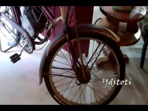 Clarks Run Antiques Utica Illinois Whizzer Motorized Bicycle