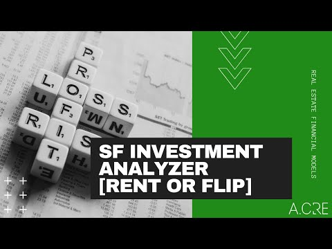 Single Family Residential Investment Model - Rental or Flip