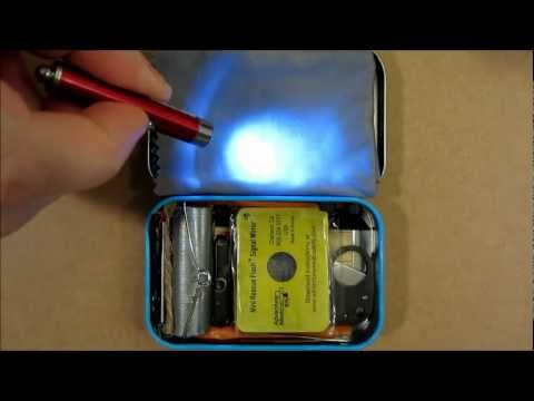 TIN 1 (Altoids Style): Pt. 6 Ultralight Survival Kit, One Pocket