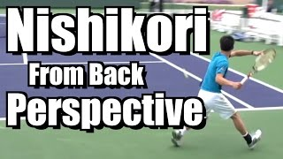 Kei Nishikori Points from Back Perspective - Forehand Backhand - BNP Paribas Open 2013