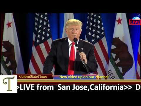 Live Stream:Donald Trump Rally from SAN JOSE, CA (San Jose Convention Center - South Hall)