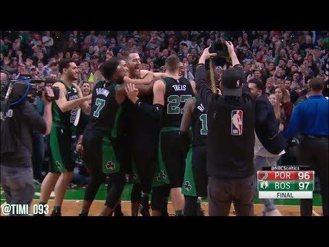 Boston Celtics vs Portland Trail Blazers Crunchtime Highlights (02/04/2018)