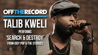 "Talib Kweli Performs ""Search & Destroy"" from Iggy Pop & The Stooges"