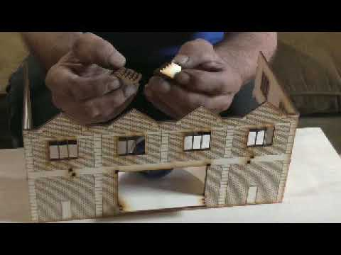 Modelling Railway Train Track Plans -Building a laser cut good's shed
