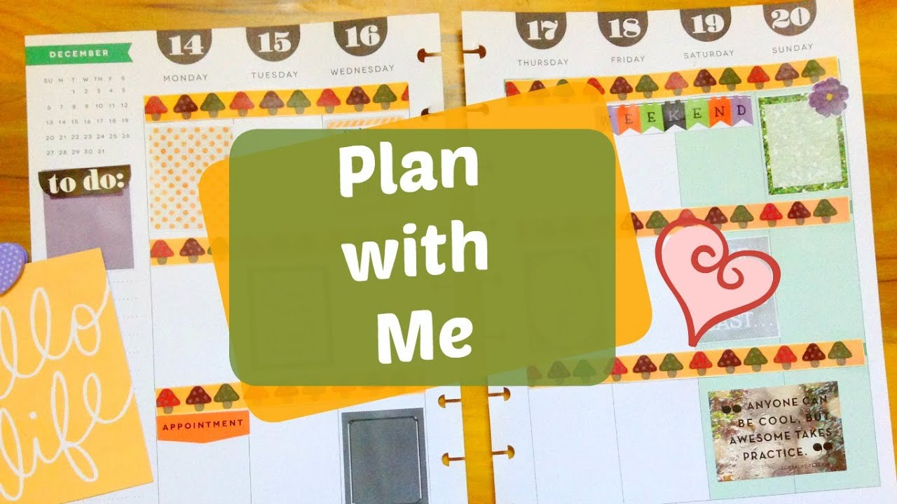Plan with Me | The 365 Happy Planner ( Free Printable ) - YouTube