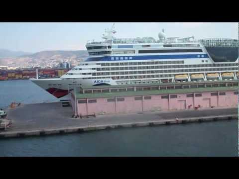 Leaving the Port of Izmir on the MSC Divina (Time Lapse) - 31st July, 2012 (HD)