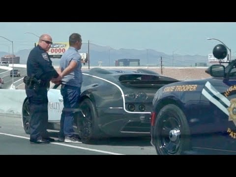COPS ARRESTS BUGATTI OWNER FOR GOING TOO SLOW!!!