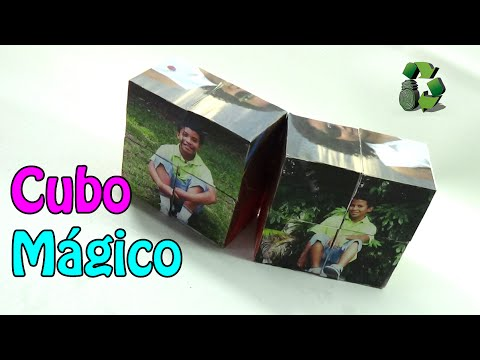 3 manualidades cubo m gico para fotos reciclaje - Cubo de reciclaje ...