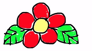 HOW TO DRAW FLOWER VIA DIGITAL MOBILE PHONE