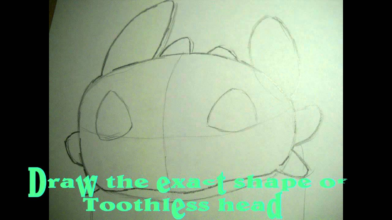 how to draw the night fury toothless youtube