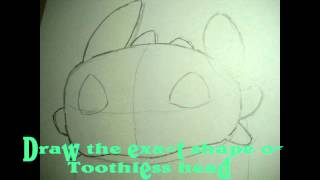 How to draw the Night Fury Toothless