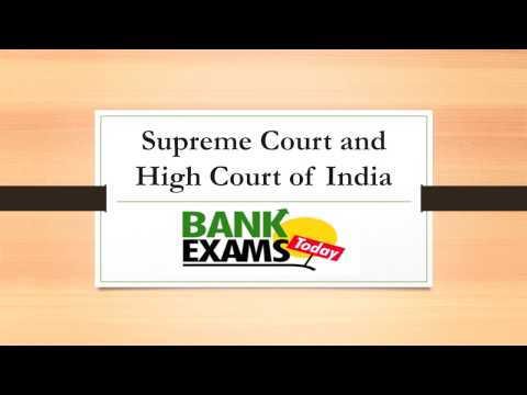Supreme Court and High Court - SSC Polity Lecture