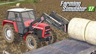 Zwożenie słomy z pola - Farming Simulator 17 | #61